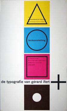<cite>De Typografie van Gérard Ifert</cite> poster