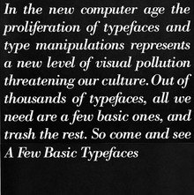 Massimo Vignelli's <cite>A Few Basic Typefaces</cite>