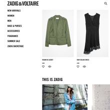 Zadig & Voltaire logo and website