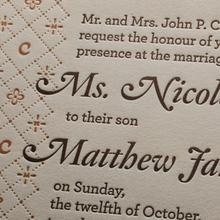 Milne & Clymer wedding invitation