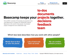 Basecamp Product Site
