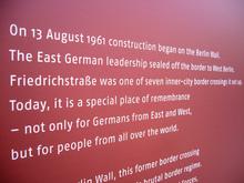 Berlin Wall Timeline Exhibition