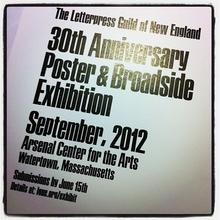 Poster Letterpress Guild of New England