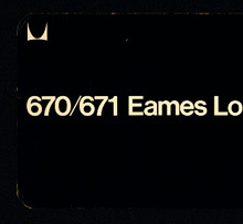 Eames Lounge Chair and Ottoman Product Label