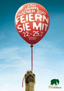 Kölner Zoo 150 Year Anniversary Ad Campaign