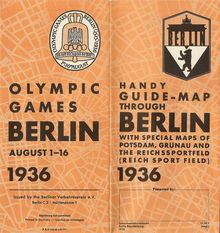 Guide-map through Berlin 1936