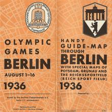 Guide-map through Berlin 1936