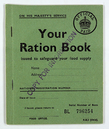 World War II British Ration Book