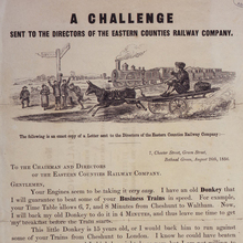 A Challenge Sent to the Directors of the Eastern Counties Railway Company