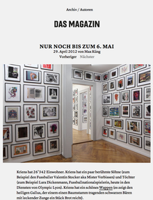 <i>Das Magazin</i> Blog