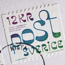 Typographic Swedish Stamps
