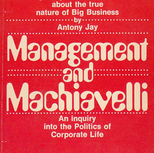 <i>Management and Machiavelli</i> book cover
