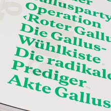 """Typotron booklet """"Gallus & Pretoria"""""""
