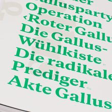 "Typotron booklet ""Gallus & Pretoria"""