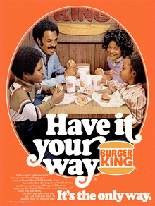 "Burger King 1970s ""Have it your way"" ads"