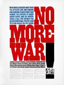 """""""No More War"""" –<i>Avant Garde</i> Magazine Call for Entries"""