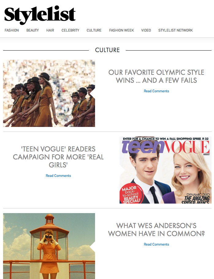 Culture News  Photos and Videos   Stylelist.p