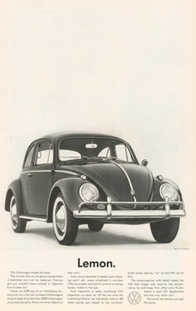 Volkswagen ads from the 1960s
