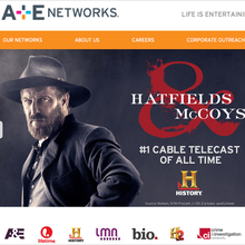 A & E networks Website