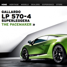Lamborghini.com Website