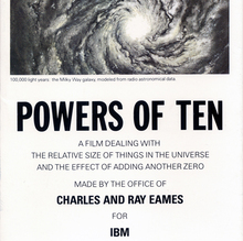 <cite>Powers of Ten</cite> brochure