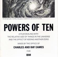 <cite>Powers of Ten</cite> brochure