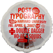 Post Typography lecture/performance balloons