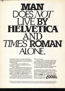 Adobe ad in <cite>U&lc</cite>, 1987