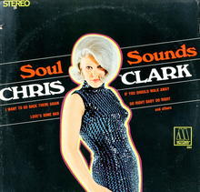 Chris Clark 'Soul Sounds' LP Cover