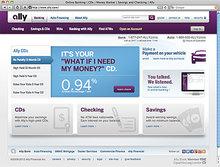 Ally Bank website