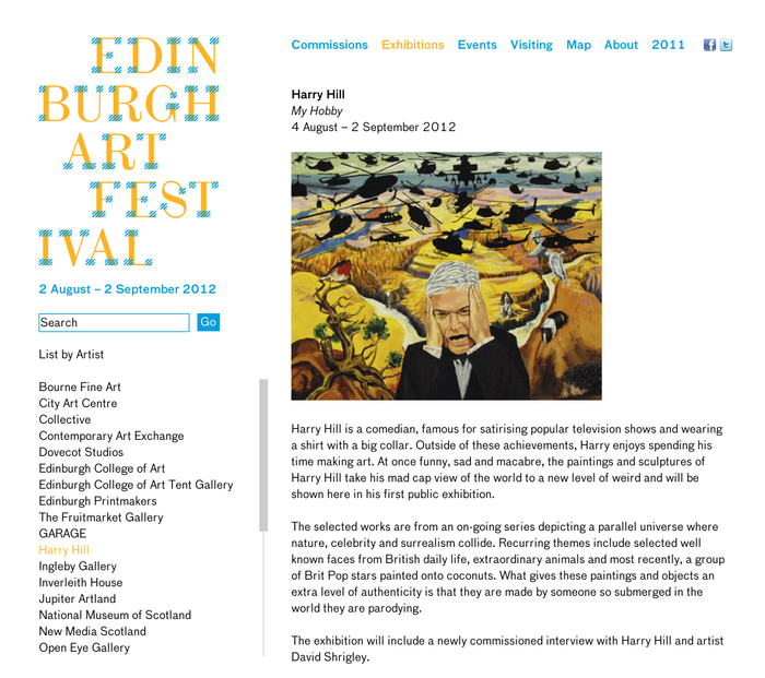 Edinburgh Art Festival – Exhibitions – Harry