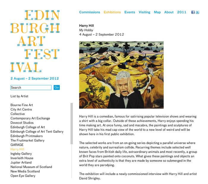 Edinburgh Art Festival – Exhibitions – Harry
