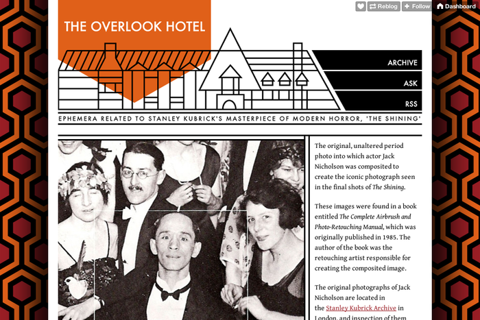 The Overlook Hotel — The original  unaltered