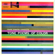 <cite>Frank Sinatra Conducts Tone Poems of Color</cite> Record Sleeve