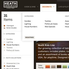 Heath Ceramics Website