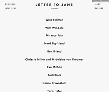 <cite>Letter to Jane</cite> Website