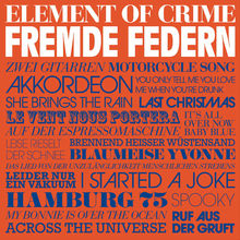 <cite>Fremde Federn</cite> by Element of Crime