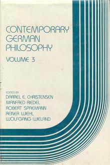 <cite>Contemporary German Philosophy<cite>