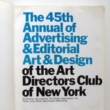 The 45th Annual of Advertising & Editorial Art & Design of the Arts Directors Club of New York