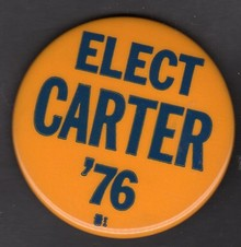 Jimmy Carter 1976 Presidential Campaign Buttons