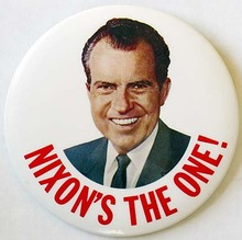 Richard Nixon 1968 Presidential Campaign Buttons