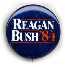 Ronald Reagan 1984 Presidential Campaign Button