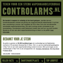 Controlarms.nl activist website