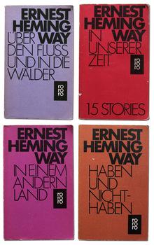Ernest Hemingway book covers