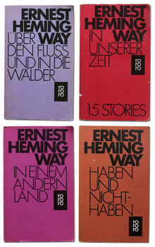 Ernest Hemingway book covers