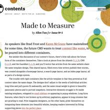 <cite>Contents</cite> Magazine