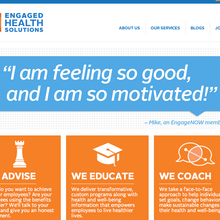 Engaged Health Solutions website