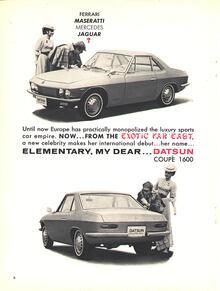 1969 Datsun Silvia (1600) Coupe Ad