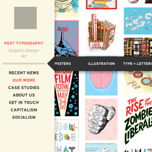 Post Typography website