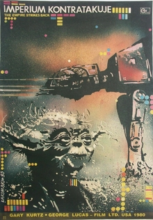 <cite>The Empire Strikes Back</cite> Polish Movie Poster